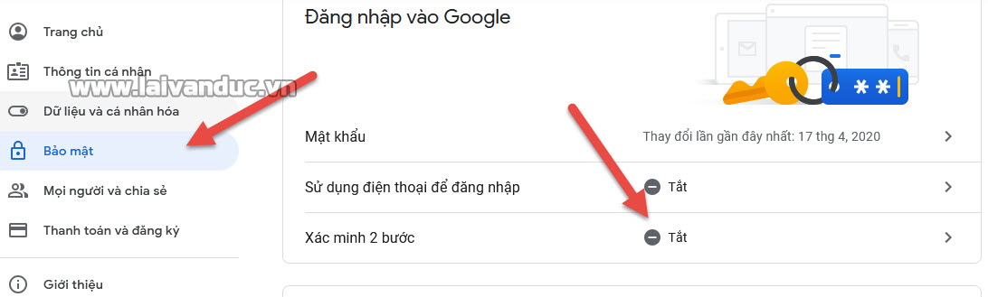 Cấu hình bảo mật 2 bước cho Gmail