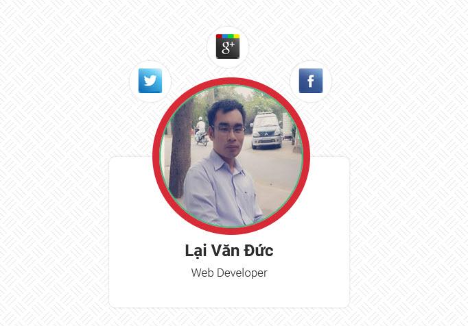 Code Profile Card hiện đại với HTML và CSS