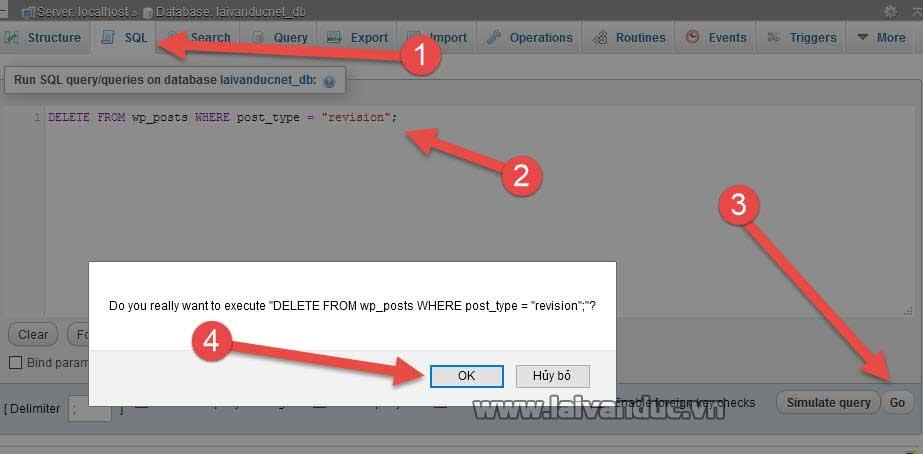 Xóa các bản nháp trong Database WordPress