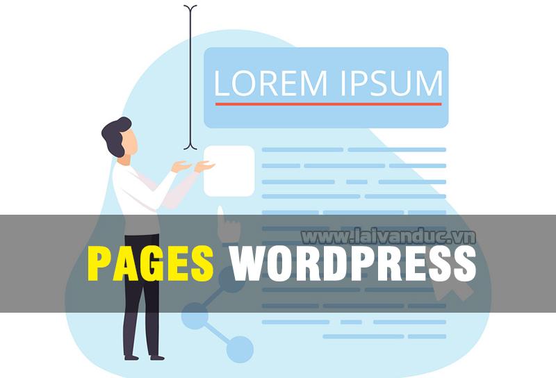 Pages WordPress   Quản lý Trang trong WordPress