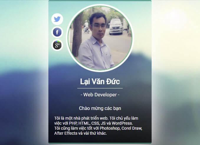Tạo Profile Card với HTML và CSS hiệu ứng đẹp