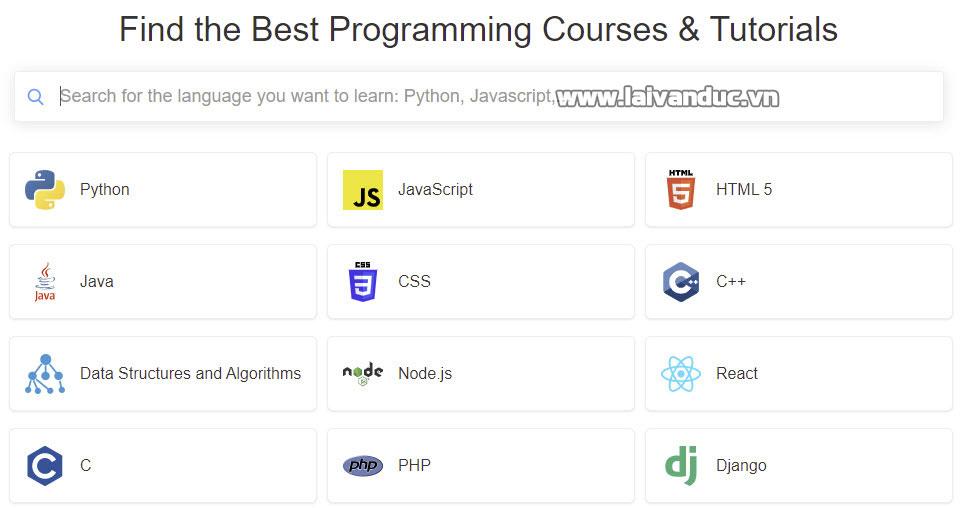 Tự học lập trình từ Hackr.io
