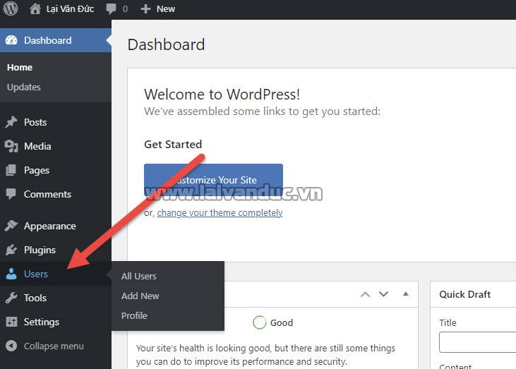 Users WordPress là gì ?